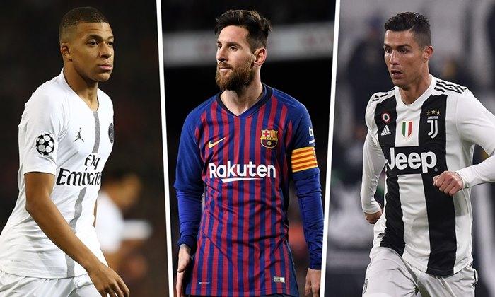 Messi, Mbappé e Cristiano Ronaldo